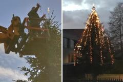 Adventlich geschmückter Baum stimmt auf Weihnachten ein