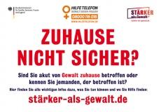 Plakataktion des Netzwerks gegen häusliche Gewalt im Kreis Gifhorn
