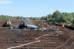Zwischen Platendorf und Stüde: Pistenraupe brennt aus